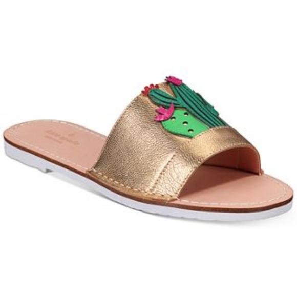 c2783f28cc57 New Kate Spade Iguana Cactus Slide Sandals